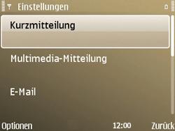 Nokia E72 - SMS - Manuelle Konfiguration - Schritt 5