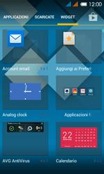 Alcatel One Touch Pop C3 - Operazioni iniziali - installazione di widget e applicazioni nella schermata iniziale - Fase 4