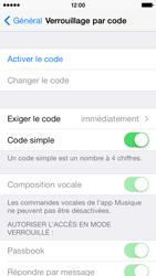 Apple iPhone 5c - Sécuriser votre mobile - Activer le code de verrouillage - Étape 5