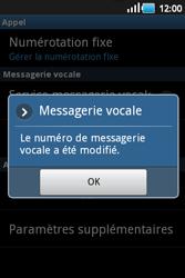 Samsung S5660 Galaxy Gio - Messagerie vocale - configuration manuelle - Étape 8