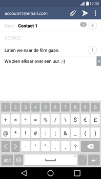 LG G4 - e-mail - hoe te versturen - stap 10