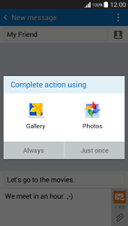 Samsung G530FZ Galaxy Grand Prime - MMS - Sending pictures - Step 14