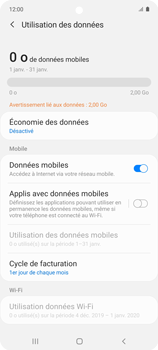 Samsung Galaxy A51 5G - Internet et connexion - Désactiver la connexion Internet - Étape 6