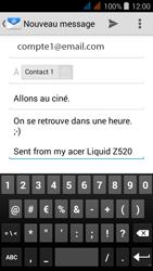 Acer Liquid Z520 - E-mail - envoi d
