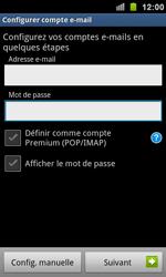 Samsung I9100 Galaxy S II - E-mail - Configuration manuelle - Étape 5