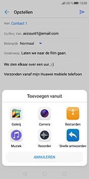Huawei P Smart (Model FIG-LX1) - E-mail - Bericht met attachment versturen - Stap 12