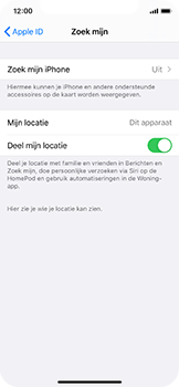 Apple iphone-11-pro-model-a2215 - Beveiliging en ouderlijk toezicht - Zoek mijn iPhone inschakelen - Stap 10