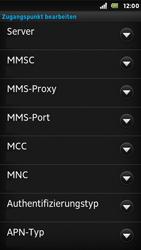 Sony Xperia U - MMS - Manuelle Konfiguration - 12 / 16