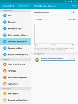 Samsung T815 Galaxy Tab S2 9.7 - Internet - Désactiver les données mobiles - Étape 7