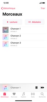 Apple iPhone XS - iOS 12 - Photos, vidéos, musique - Ecouter de la musique - Étape 6