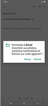 Samsung Galaxy A70 - E-mails - Envoyer un e-mail - Étape 14