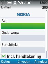 Nokia C2-01 - e-mail - hoe te versturen - stap 7