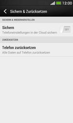 HTC Desire 500 - Fehlerbehebung - Handy zurücksetzen - 0 / 0