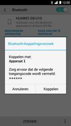 Huawei Ascend G6 - bluetooth - headset, carkit verbinding - stap 7