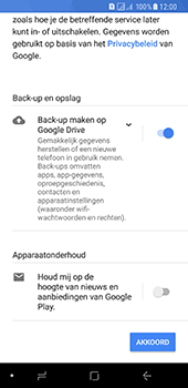 Samsung Galaxy A8 (2018) - apps - account instellen - stap 18