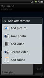 Sony Xperia Arc S - MMS - Sending pictures - Step 13