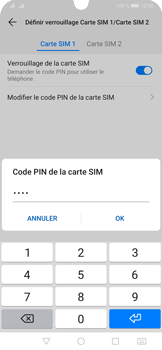 Huawei P30 Pro - Sécuriser votre mobile - Personnaliser le code PIN de votre carte SIM - Étape 14