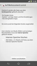 Sony Xperia Z1 - Fehlerbehebung - Handy zurücksetzen - 8 / 11