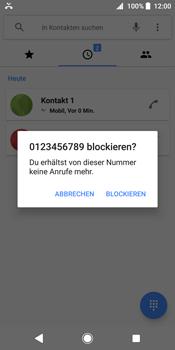 Sony Xperia XZ2 - Anrufe - Anrufe blockieren - Schritt 6