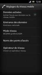 Sony Xperia U - Internet et roaming de données - Désactivation du roaming de données - Étape 6
