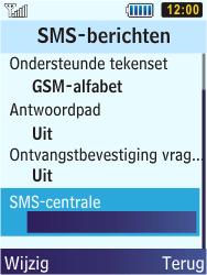 Samsung S5610 Primo - SMS - handmatig instellen - Stap 6