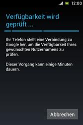 Sony Xperia Miro - Apps - Konto anlegen und einrichten - Schritt 7