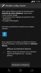 Sony Xperia V - Téléphone mobile - Réinitialisation de la configuration d