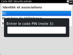 BlackBerry 9320 - Sécuriser votre mobile - Personnaliser le code PIN de votre carte SIM - Étape 9