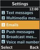 Samsung J700 - E-mail - Manual configuration - Step 5
