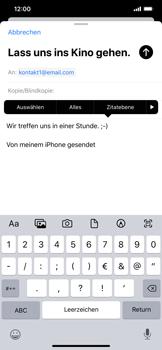 Apple iPhone XS Max - iOS 13 - E-Mail - E-Mail versenden - Schritt 9