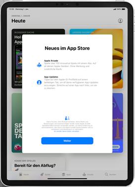Apple iPad Pro 9.7 - iPadOS 13 - Apps - Einrichten des App Stores - Schritt 3