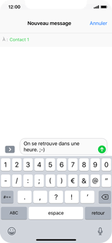 Apple iPhone X - Contact, Appels, SMS/MMS - Envoyer un MMS - Étape 8