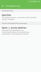 Samsung Galaxy S6 - Anrufe - Anrufe blockieren - 0 / 0