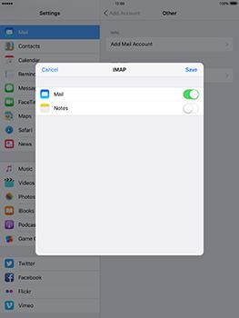 Apple iPad mini 4 iOS 10 - E-mail - Manual configuration - Step 17