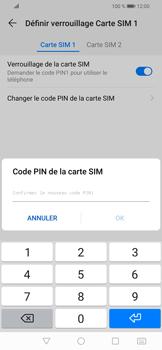 Huawei P Smart (2019) - Sécuriser votre mobile - Personnaliser le code PIN de votre carte SIM - Étape 12