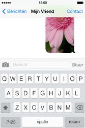 Apple iPhone 4 S iOS 7 - MMS - Afbeeldingen verzenden - Stap 13