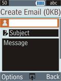 Samsung B2100 Xplorer - E-mail - Sending emails - Step 6