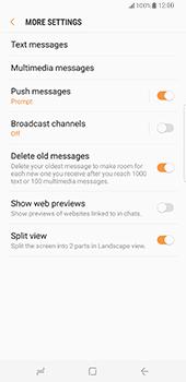 Samsung Galaxy S8 Plus - SMS - Manual configuration - Step 7