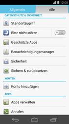 Huawei Ascend P7 - Fehlerbehebung - Handy zurücksetzen - Schritt 6
