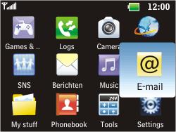 LG C360 Golf - E-mail - Manual configuration - Step 3