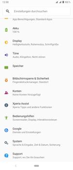 Sony Xperia 1 - Fehlerbehebung - Handy zurücksetzen - Schritt 6