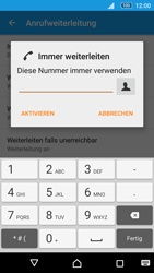 Sony Xperia M5 - Anrufe - Rufumleitungen setzen und löschen - 7 / 9