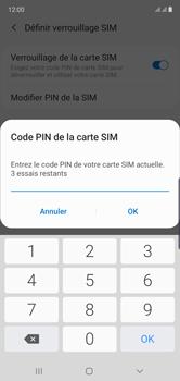 Samsung Galaxy Note 10 - Sécuriser votre mobile - Personnaliser le code PIN de votre carte SIM - Étape 9