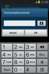 Samsung S6310 Galaxy Young - Voicemail - handmatig instellen - Stap 9