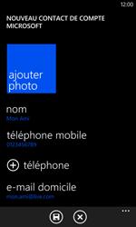 Nokia Lumia 625 - Contact, Appels, SMS/MMS - Ajouter un contact - Étape 11
