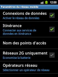Samsung Galaxy Y - Internet et roaming de données - Désactivation du roaming de données - Étape 6