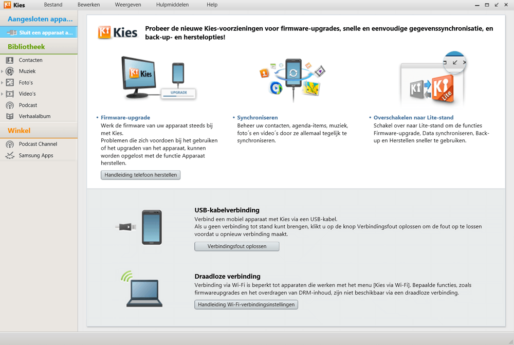 Samsung J100H Galaxy J1 - Software - Download en installeer PC synchronisatie software - Stap 6