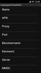 Sony Ericsson Xperia Ray mit OS 4 ICS - Internet - Manuelle Konfiguration - Schritt 10