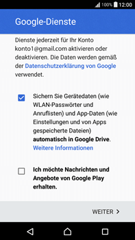 Sony Xperia XA Ultra - Apps - Konto anlegen und einrichten - 17 / 22