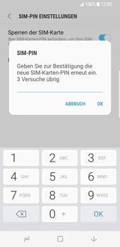 Samsung Galaxy S8 - Datenschutz und Sicherheit - PIN-Code der SIM-Karte ändern - 10 / 12